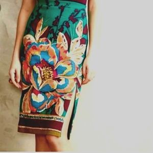 Anthropologie/Maeve Floral Print Pencil Skirt